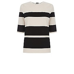 Warehouse - Blocked stripe compact jumper
