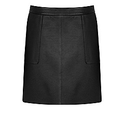 Warehouse - Leather pocket a line skirt