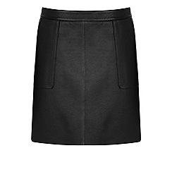 Warehouse - Leather pocket a line skirt