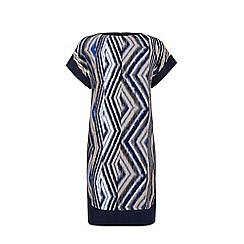 Warehouse - Zig zag print blocked dress