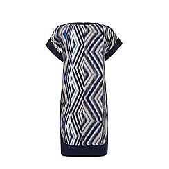 Warehouse - Zig zag print blocked dress
