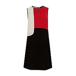Warehouse - Colour block shift dress