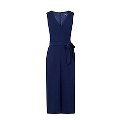 Warehouse - V-neck culotte jumpsuit