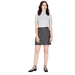 Warehouse - Diamond jacquard skirt