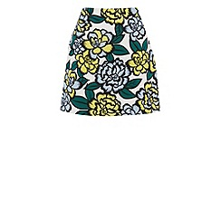 Warehouse - Floral printed ottoman skirt