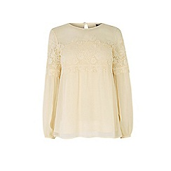 Warehouse - Lace smock top