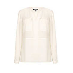 Warehouse - Utility half placket blouse