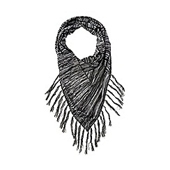 Warehouse - Triangle fringe scarf
