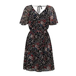 Warehouse - Angel sleeve floral dress