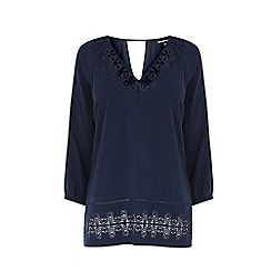 Warehouse - Lace peasant top