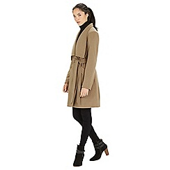 Warehouse - Asymmetric belted coat
