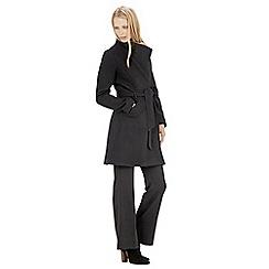 Warehouse - Asymmetric belted coat
