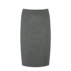 Warehouse - Pinstripe detail pencil skirt