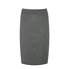 Warehouse - Pinstripe detail pencil skirt