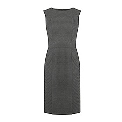 Warehouse - Pinstripe detail pencil dress