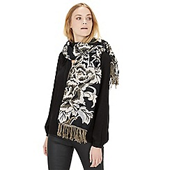 Warehouse - Floral jacquard scarf