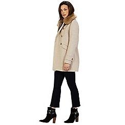 Warehouse - Db fur collar coat