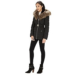 Warehouse - Luxe faux fur padded parka