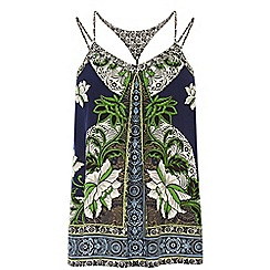 Warehouse - Border floral cami