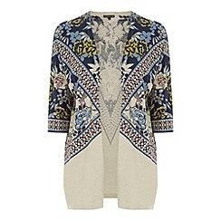 Warehouse - Border print kimono cardi