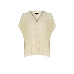 Warehouse - Embroidered kaftan top