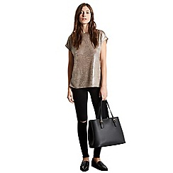 Warehouse - Double buckle detail tote bag