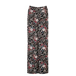 Warehouse - Folk floral wide leg trouser