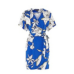 Warehouse - Impact floral wrap dress