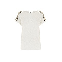 Warehouse - Embellished shoulder tee