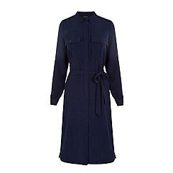 Warehouse - Belted shirt dress