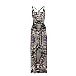 Warehouse - Tribal placement maxi dress