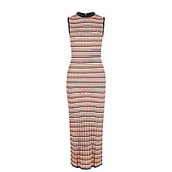 Warehouse - Zig zag pattern dress