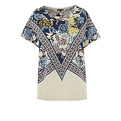 Warehouse - Border print knitted top