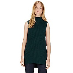 Warehouse - Sleeveless rib tabbard