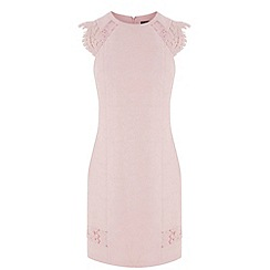 Warehouse - Jacquard lace shoulder dress