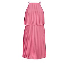 Warehouse - Plisse pleated midi dress