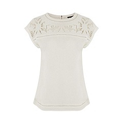 Warehouse - Cutwork yoke top
