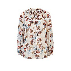 Warehouse - Printed pleated blouse