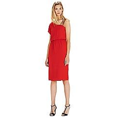 Warehouse - Diamanté one shoulder dress
