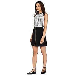 Warehouse - Zip front a-line skirt