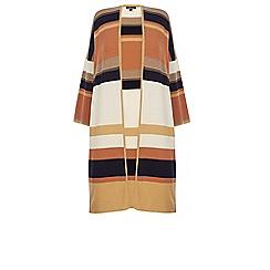 Warehouse - Compact yarn stripe kimono