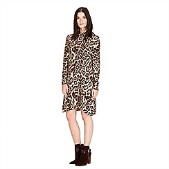 Warehouse - Animal print dress