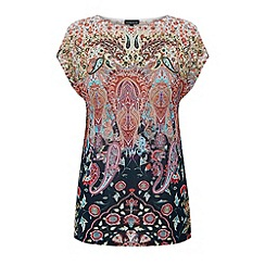 Warehouse - Pretty paisley square tee