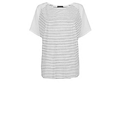 Warehouse - Stripe circle cape top