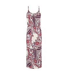 Warehouse - Paisley print midi dress
