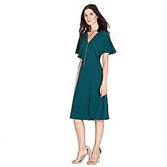 Warehouse - Diamante trim open back dress