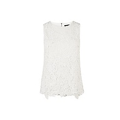 Warehouse - Pretty leaf lace shell top