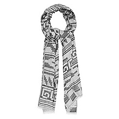 Warehouse - Mono border oversized scarf