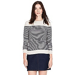 Warehouse - Button shoulder stripe jumper