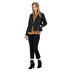 Warehouse - Faux leather biker jacket